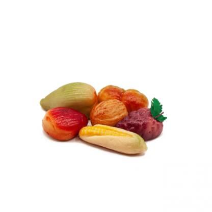Panier de pâtes d'amandes d'automne